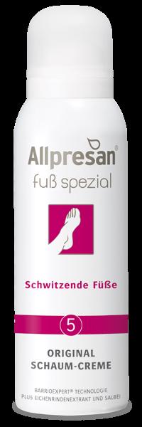 Allpresan Fuß spezial Original Schaum-Creme Schwitzende Füße